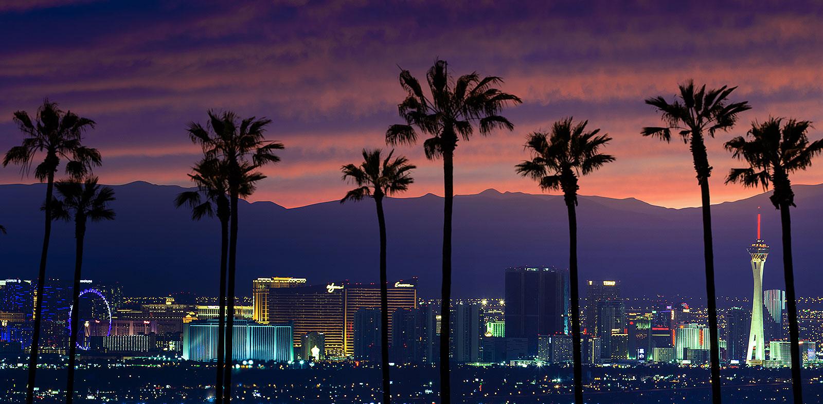 Las Vegas cityscape at night