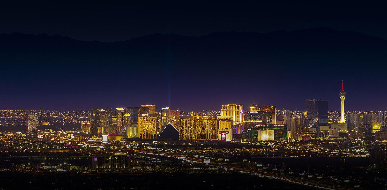 Vegas cityscape at night