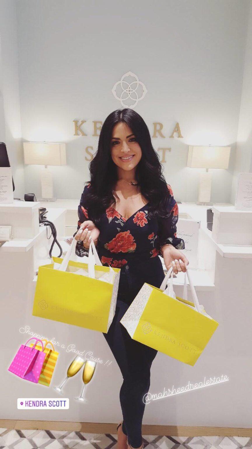 Mahsheed's Instagram story at Kendra Scott