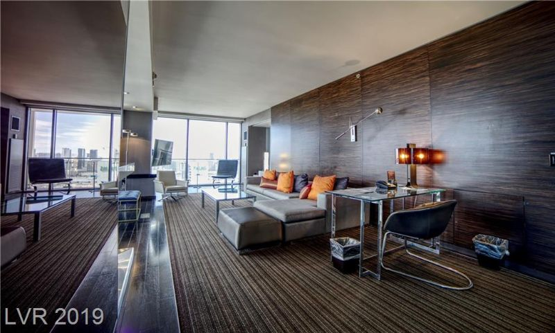 Sleek modern condo unit in a high rise tower in Las Vegas